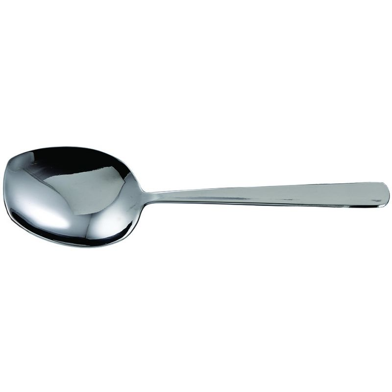 Serving Spoons, Flat Edge, S/S