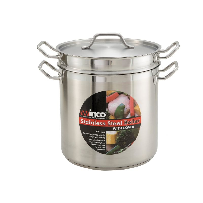 8qt S/S Double Boiler w/Cover