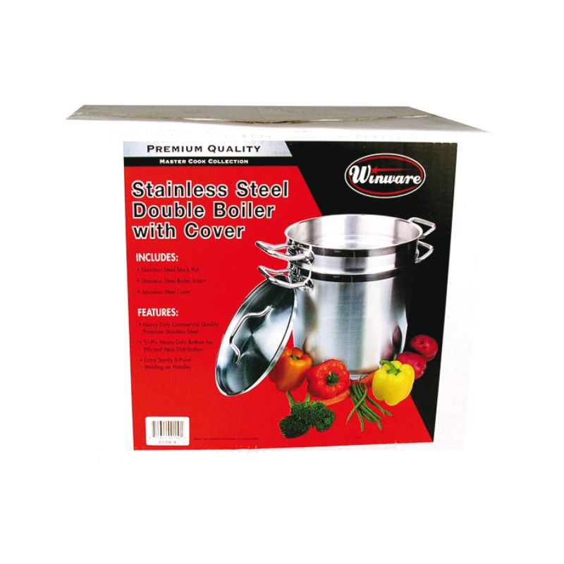 20qt S/S Double Boiler w/Cover