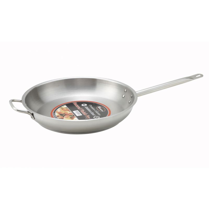 14 inches S/S Fry Pan w/Helper Hdl