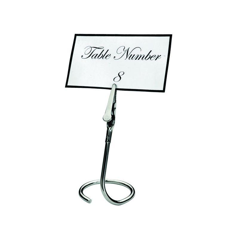 Table Sign Clips, C Swirl Base, 6pcs/pk, Chrome Plated