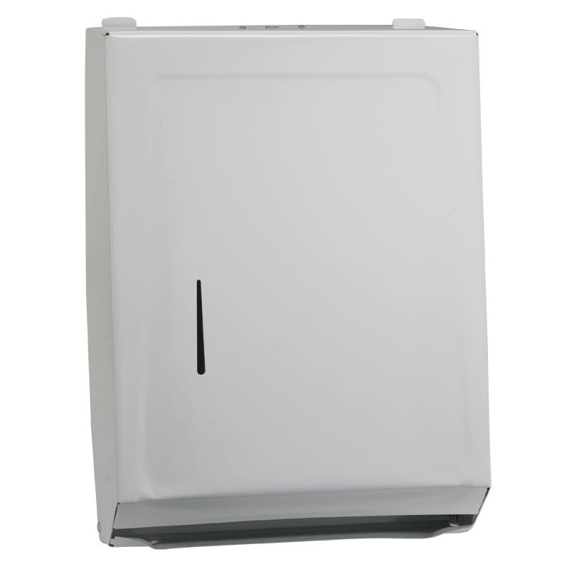 Paper Towel Dispenser, M/C-Folds, White