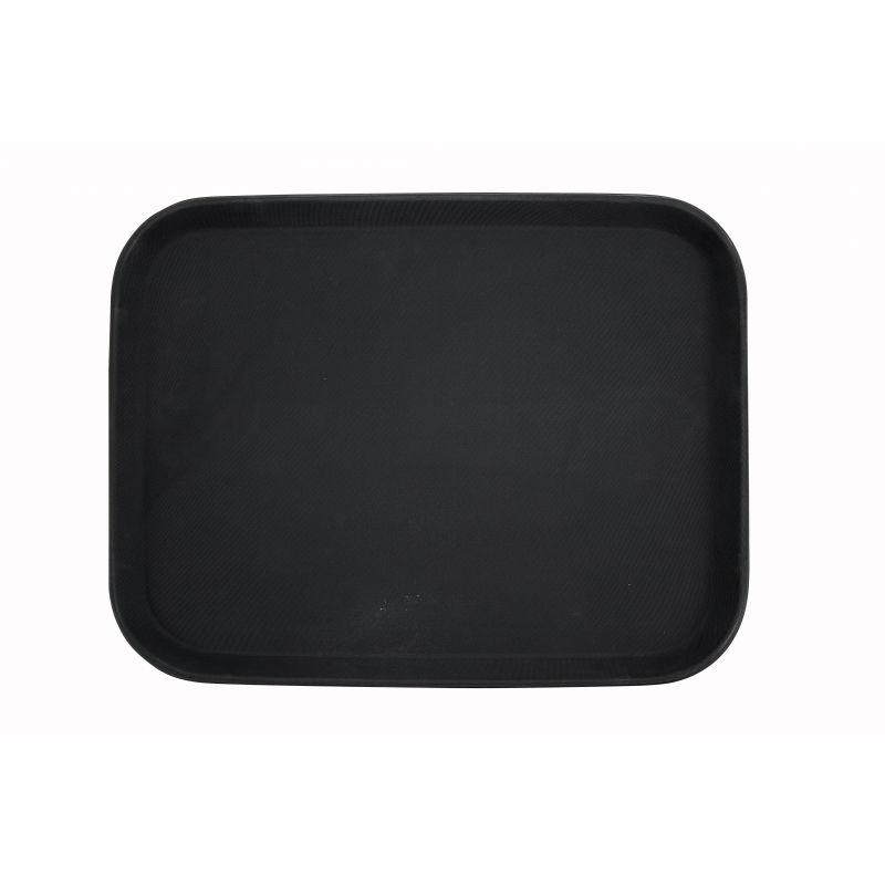 14 inches x 18 inches Premium Fiberglass Tray, Non-slip, Black, Rectangular