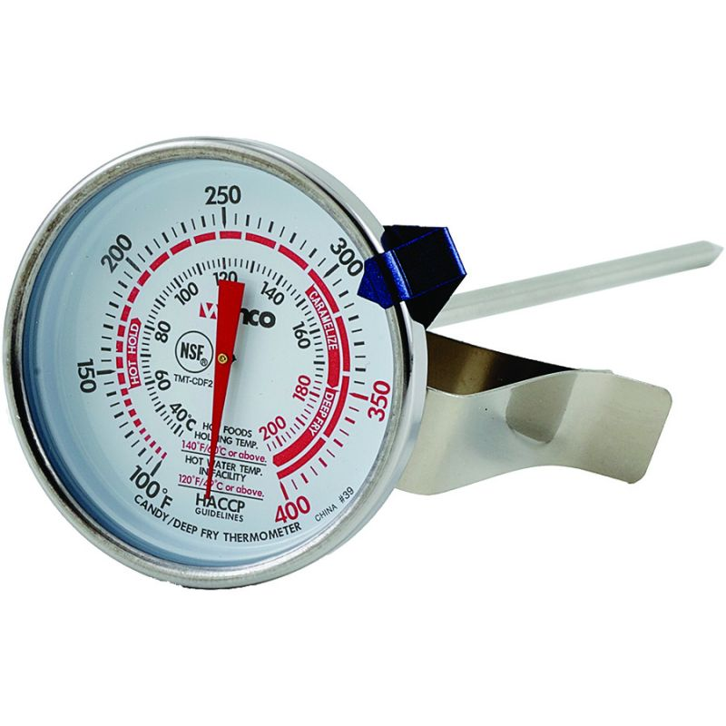Deepfry/Candy Thermometer, 2 inches Dial, 5 inches Probe