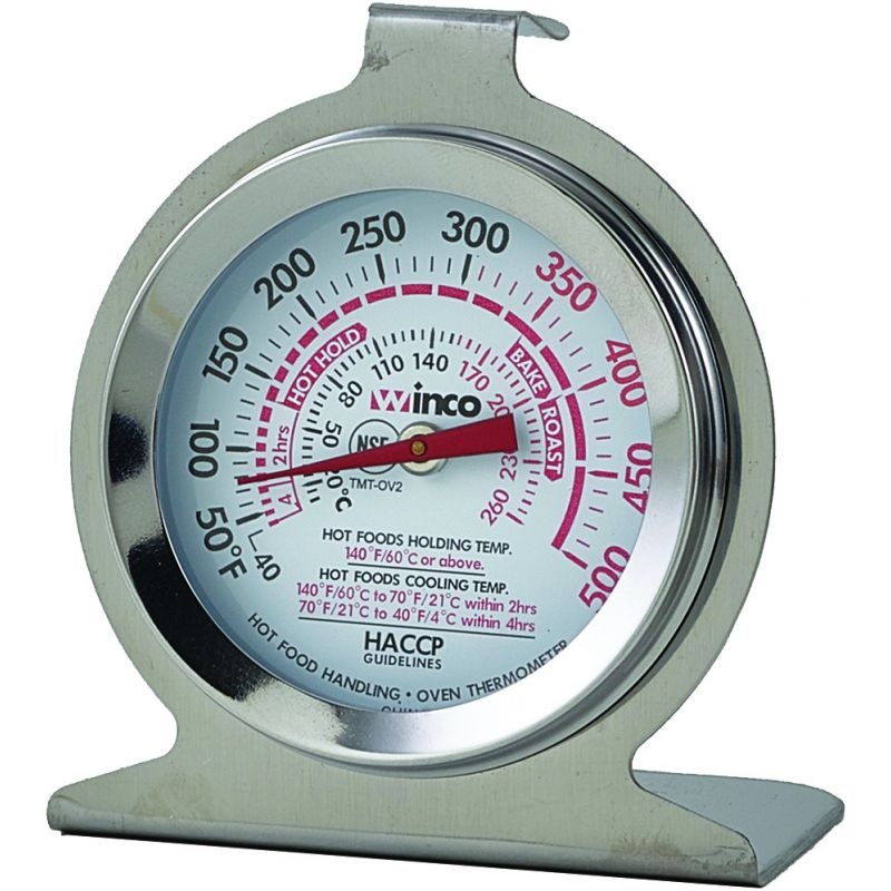 Winco 2-3//4-Inch by 2-1//8-Inch Roast//Meat Thermometer with 3-1//2-Inch Probe