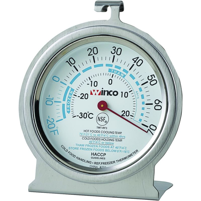 Freezer/Refrig Thermometer, 3 inches Dial