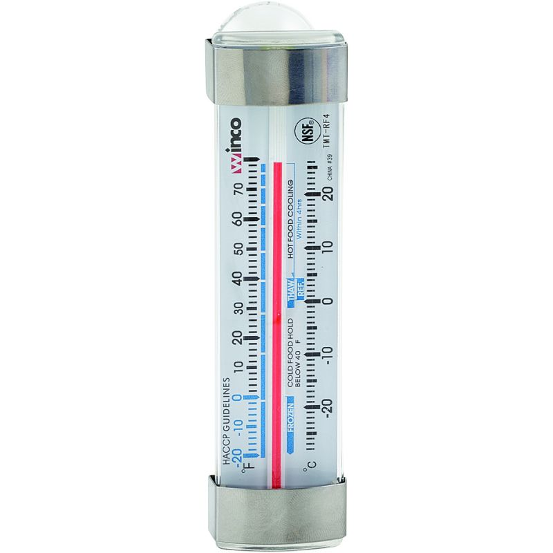 Freezer/Refrig Thermometer, 3-1/2 inchesL, Suction Cup