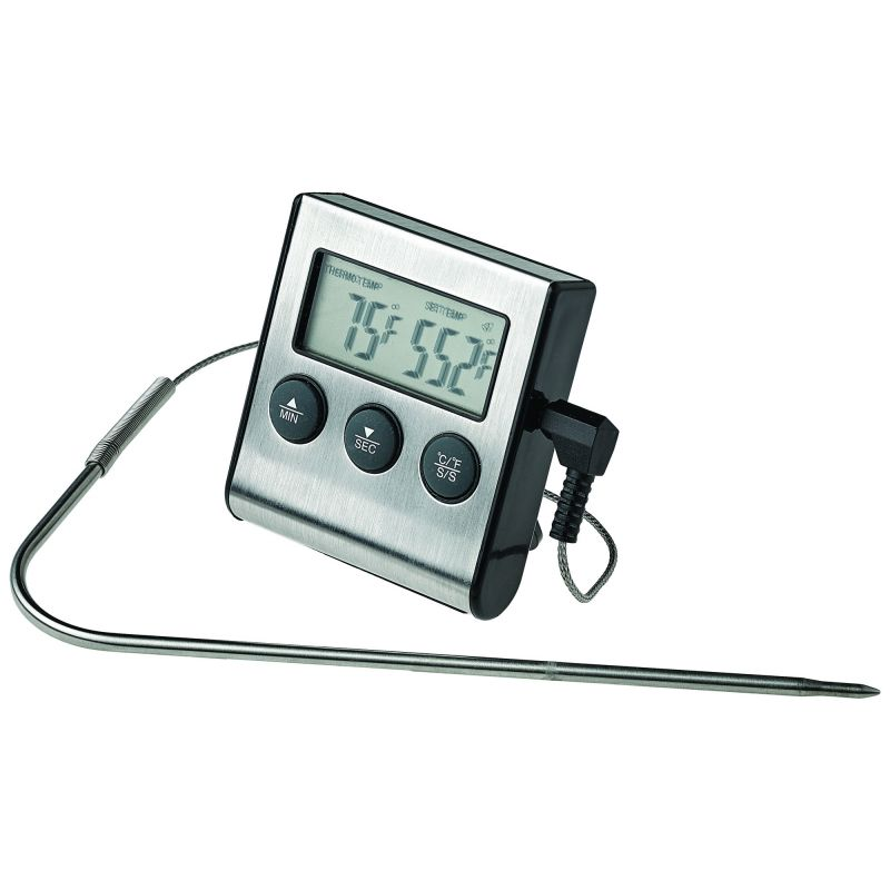 Digital Roasting Thermometer w/ Timer & Probe