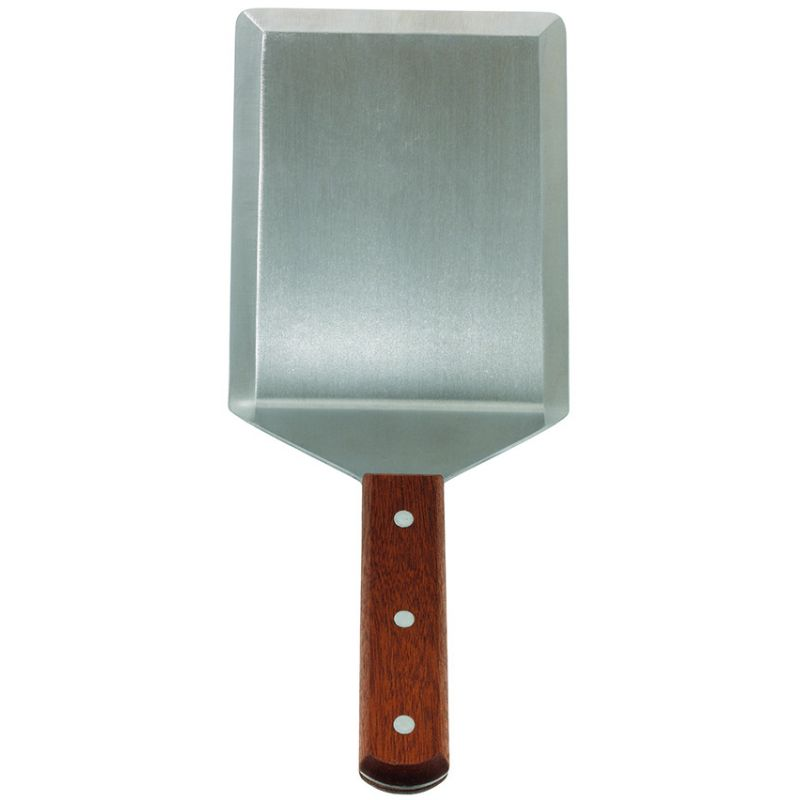 "Extra Heavy Turner w/Cutting Edge, Wooden Hdl, 5"" x 6"" Blade"
