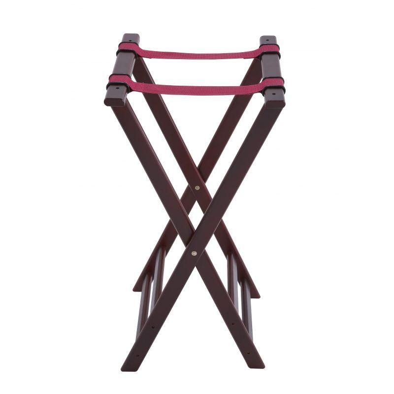 Folding Tray Stand, 32 inchesH, Mahogany
