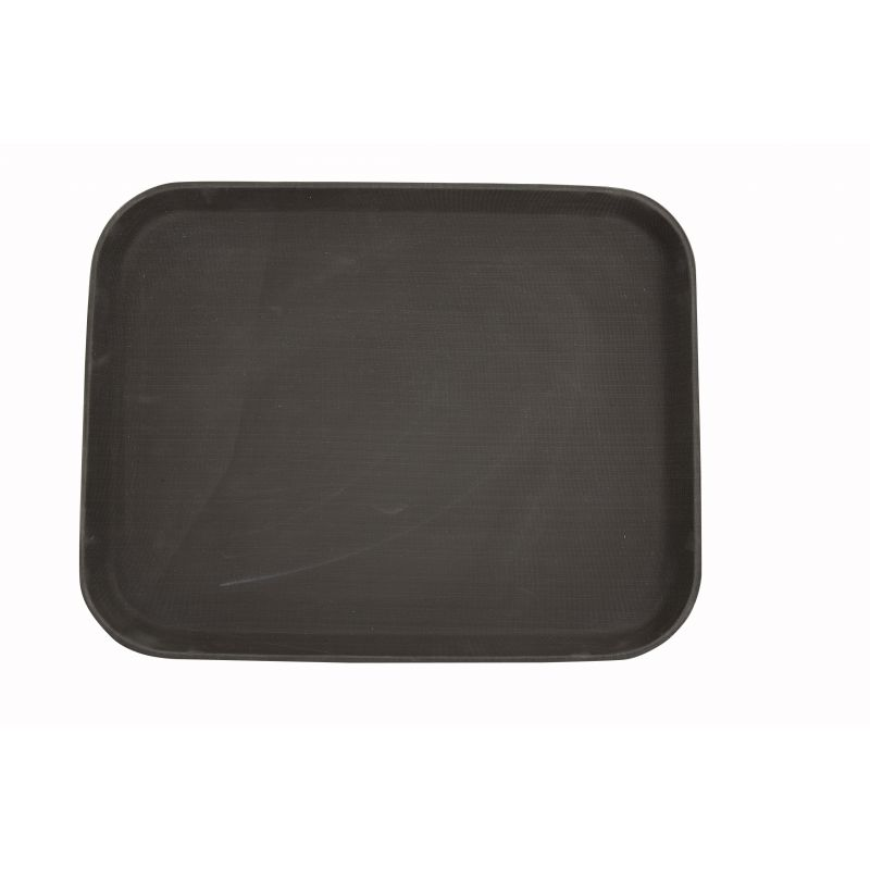 14 inches x 18 inches Easy Hold Rubber Lined Tray, Brown, Rectangular