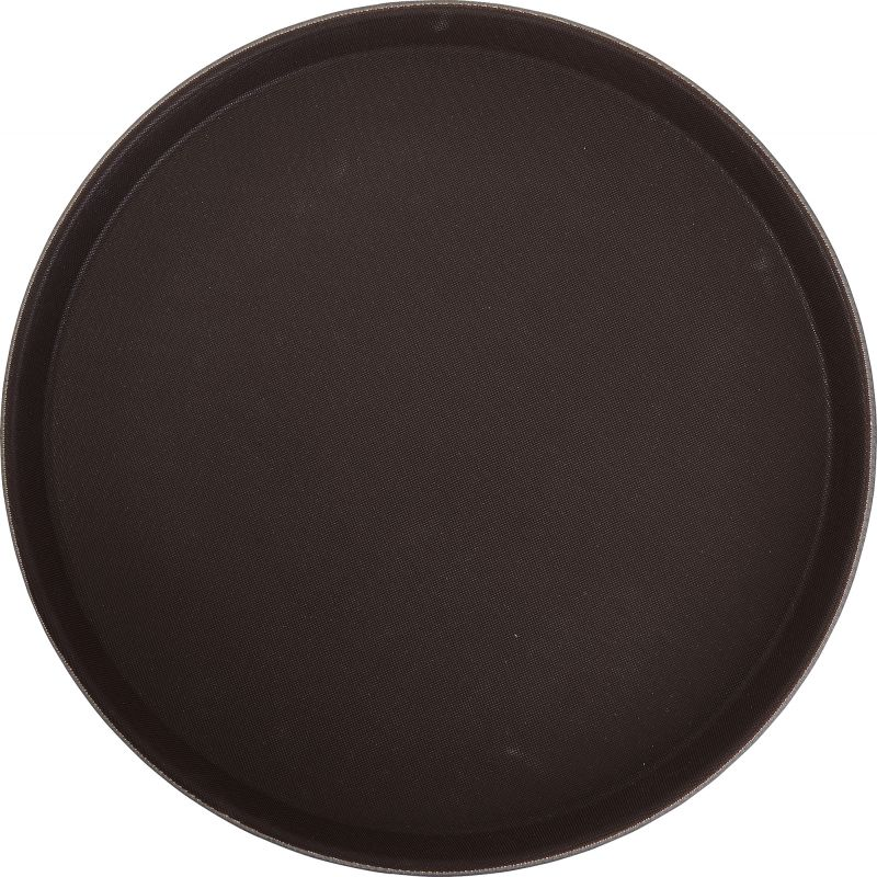 11 inches Easy Hold Rubber Lined Tray, Black, Round