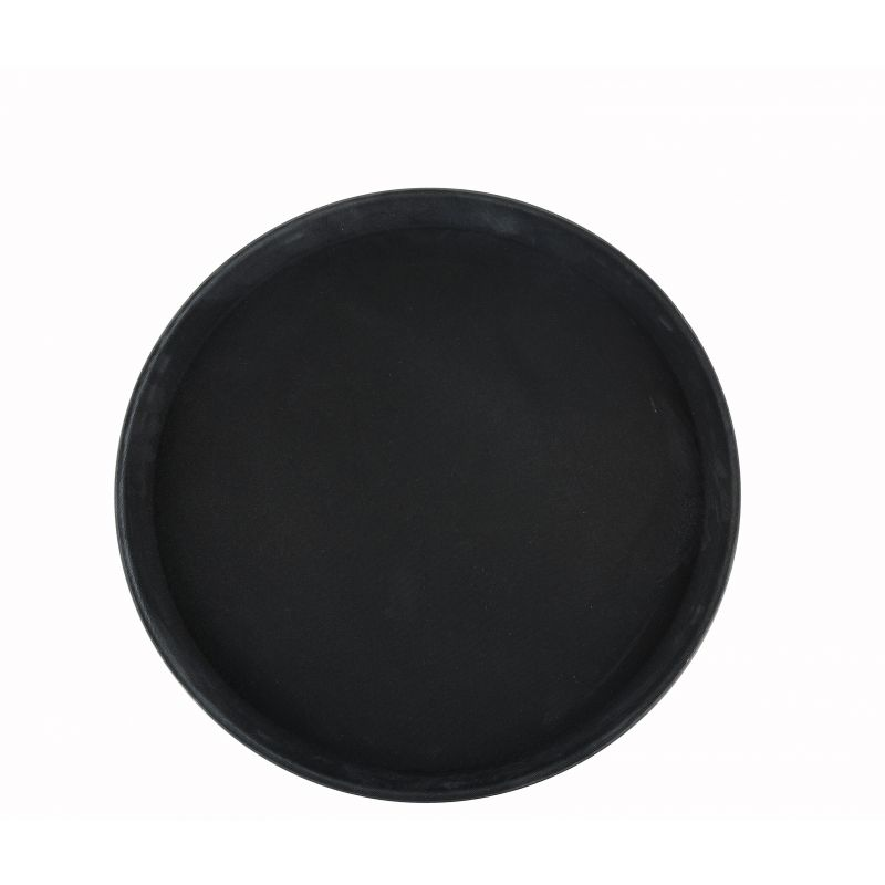 14 inches Easy Hold Rubber Lined Tray, Black, Round