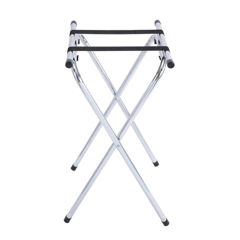 Folding Tray Stand, 31 inchesH, Chrome