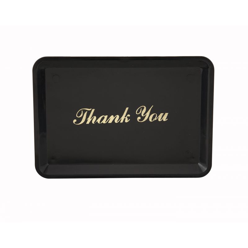Tip Tray,  inchesThank You inches Gold Imprint