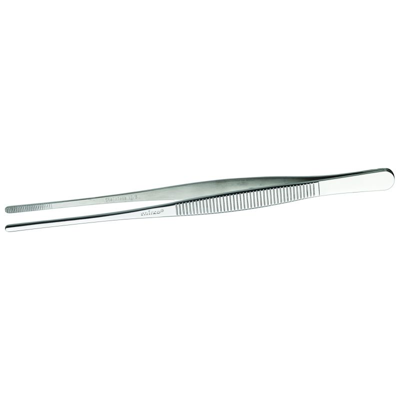 Tweezer tong, straight, 8 inches