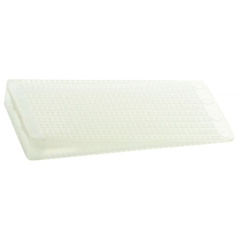 Plastic Table Wedge, Translucent, Hard, PP, 75 Pc Pack