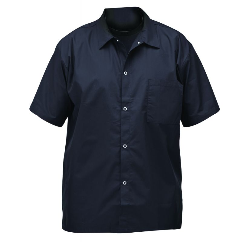 Chef shirts, black, 2X