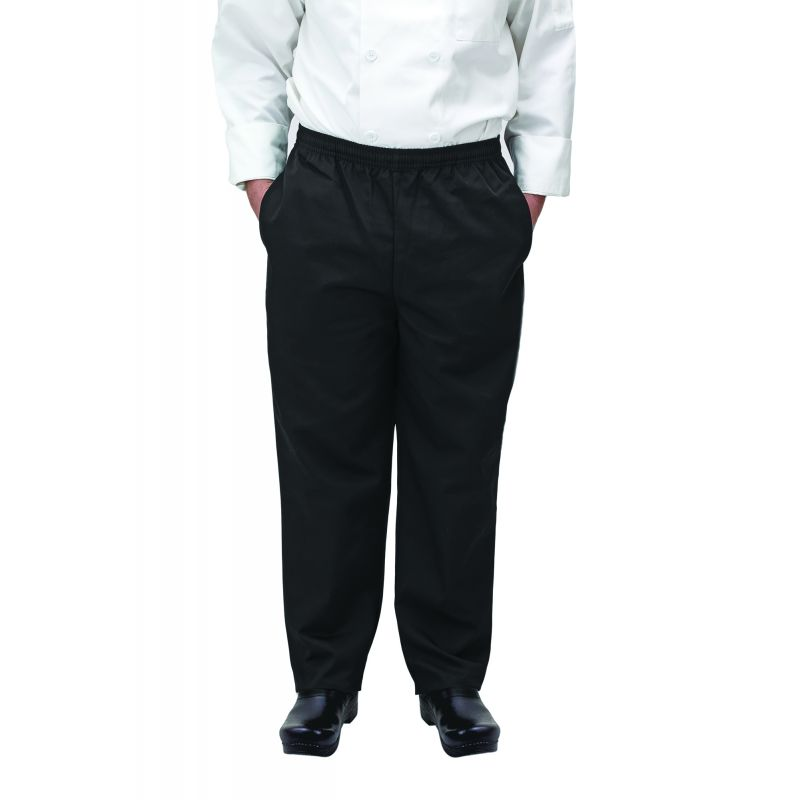 Chef pants, black, 2X