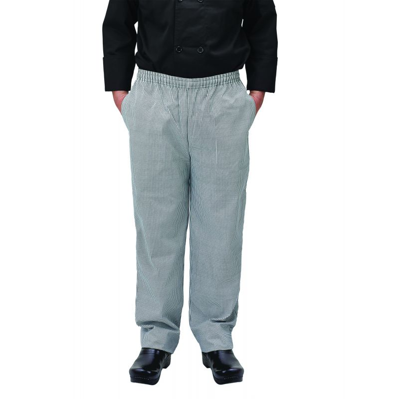 Chef pants, houndstooth, S