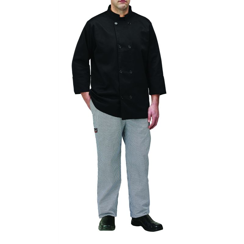 Chef jacket, black, 2X