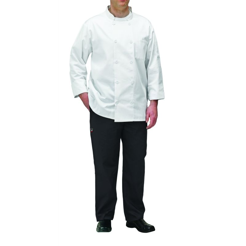 Chef jacket, white, 2X