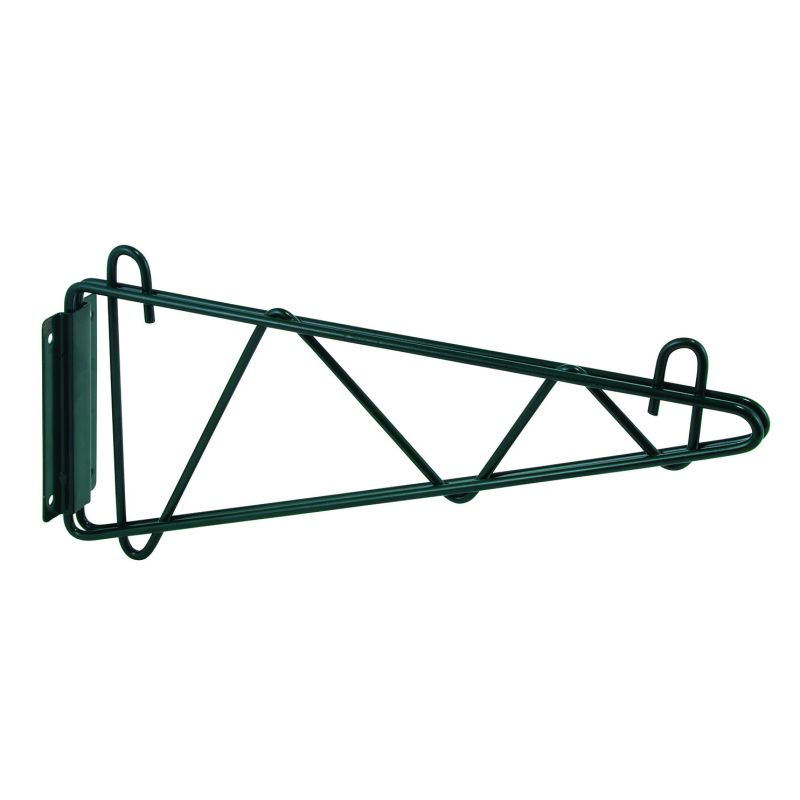 Shelving Wall Mount Brackets, Epoxy Coated, 14 inchesW, 1 Pair