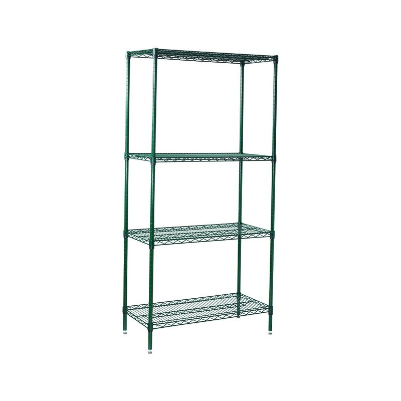 4-Tier Wire Shelving Set, Epoxy Coated, 18 inches x 36 inches x 72 inches