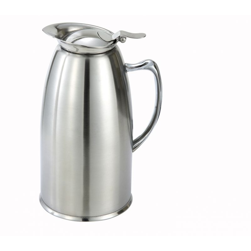 20oz S/S Lined Coffee Server Pot, Insulated, Satin Finish