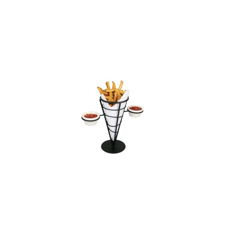Single Cone French Fry Holder, Black Wire
