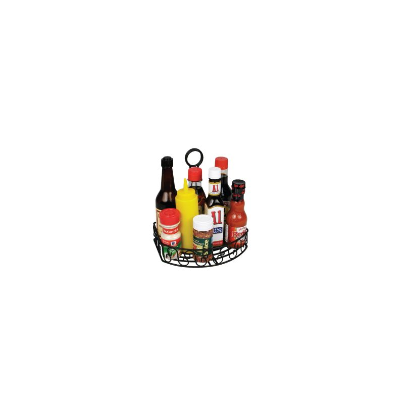 Oblong Condiment Caddy, 8-1/4 inches x 6-1/4 inches, Black Wire