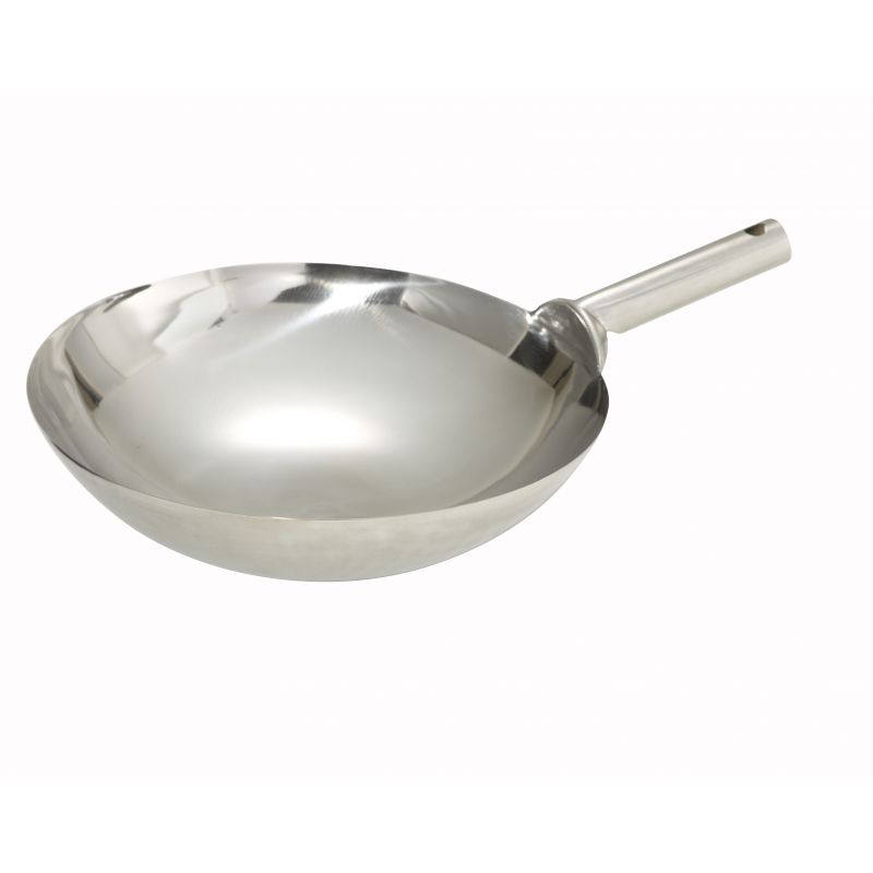 16 inches S/S Wok, Welded Joint