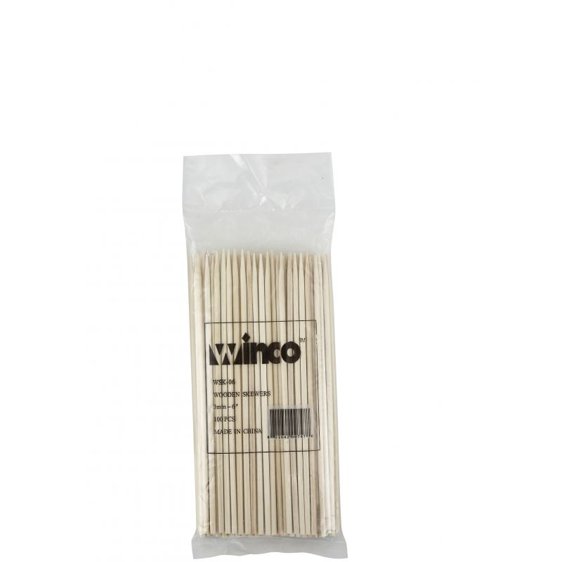 6 inches Bamboo Skewers, 100/bag