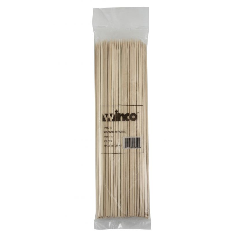 10 inches Bamboo Skewers, 100/bag