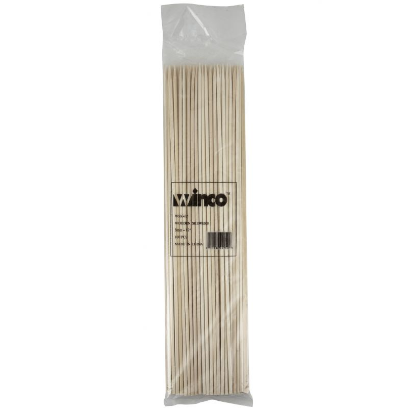 12 inches Bamboo Skewers, 100/bag